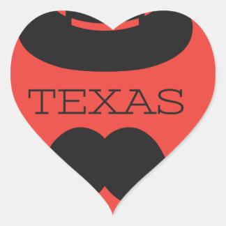 Sticker Cœur Le Texas en ROUGE