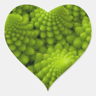 Sticker Cœur Légume de fractale de brocoli de Romanesco