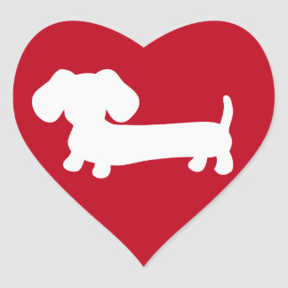 Sticker Cœur L'enveloppe d'amour de coeur de teckel scelle des