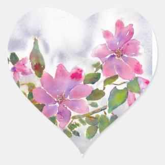 Sticker Cœur Les roses de Nana