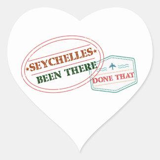 Sticker Cœur Les Seychelles là fait cela