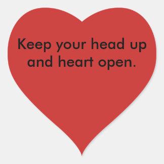 Sticker Cœur Ligne tête d'encouragement