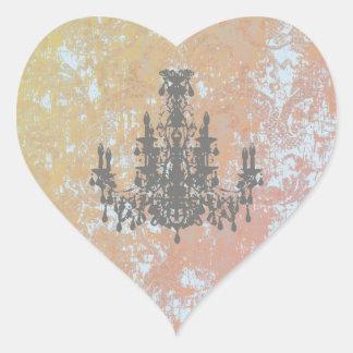 Sticker Cœur Lustre de Cocos - CHANGEZ la COULEUR/FORME/TAILLE