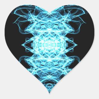 Sticker Cœur Mandala d'éclairage