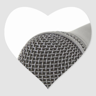 Sticker Cœur Microphone - entretien à moi