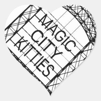 Sticker Cœur Minous magiques de ville