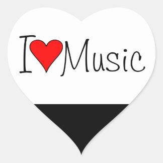Sticker Cœur Musique du coeur I