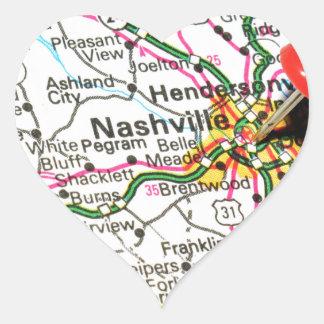 Sticker Cœur Nashville, Tennessee