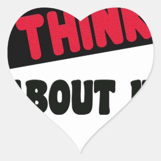 Sticker Cœur ne pensez pas même cela le T-shirt de 2 cadeaux