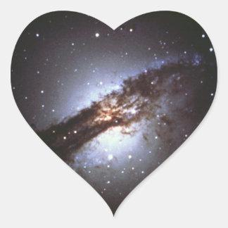 Sticker Cœur NGC 5128 Centaurus une NASA de galaxie