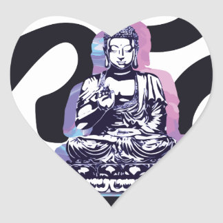 Sticker Cœur Ohm Bouddha