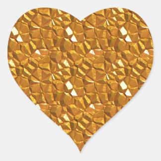 Sticker Cœur Or d'or