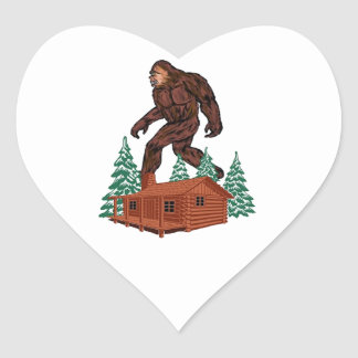 Sticker Cœur Paradis de Bigfoot
