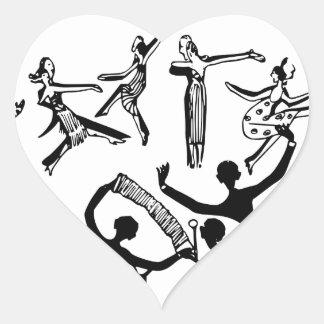 Sticker Cœur Partie animée avec la danse