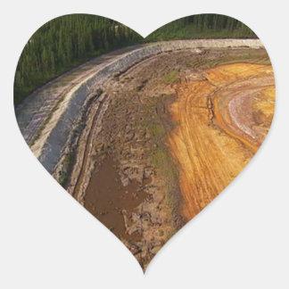 Sticker Cœur Paysage canadien des secteurs de extraction fermés