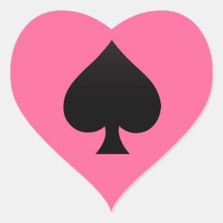 Sticker Cœur Pelle - costume d'icône de cartes