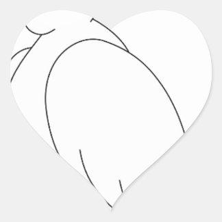Sticker Cœur perroquet #3