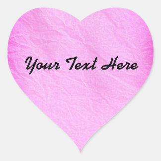 Sticker Cœur Personnaliser rose de l'autocollant | de coeur de