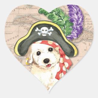 Sticker Cœur Pirate de Bichon Frise