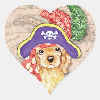 Sticker Cœur Pirate de cocker