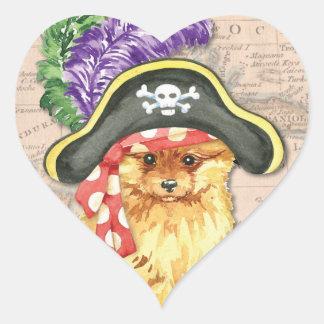 Sticker Cœur Pirate de Pomeranian