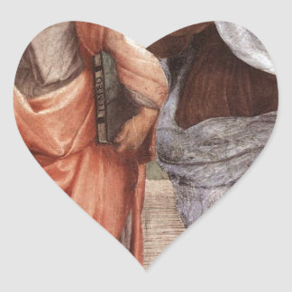 Sticker Cœur Platon et Aristote