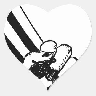 Sticker Cœur Poing de puissance