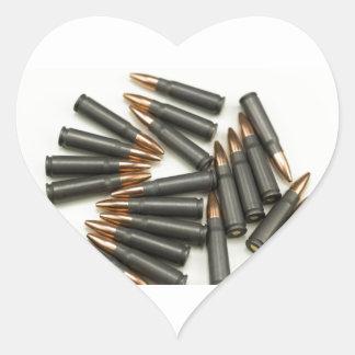 Sticker Cœur point creux des munitions 7.62x39mm de munitions
