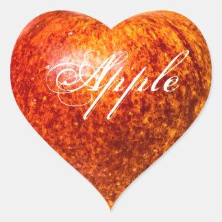Sticker Cœur Pomme rouge