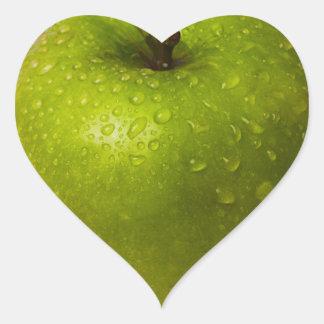 Sticker Cœur Pomme verte