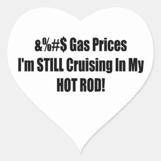 Sticker Cœur Prix du gaz Im croisant toujours dans mon hot rod