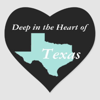 Sticker Cœur Profondément au coeur du Texas
