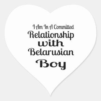 Sticker Cœur Rapport avec le garçon biélorusse