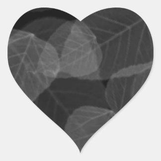 Sticker Cœur Rayon X de feuille
