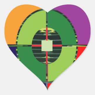 Sticker Cœur Réchauffement climatique vert NVN255 de la TERRE