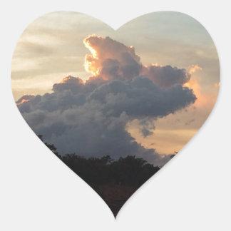 Sticker Cœur Requin de nuage