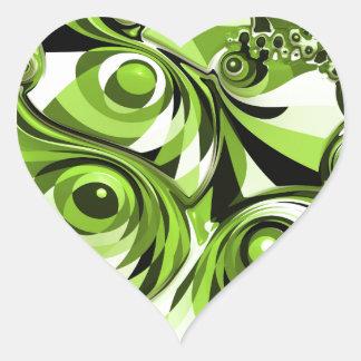 Sticker Cœur Résumé vert