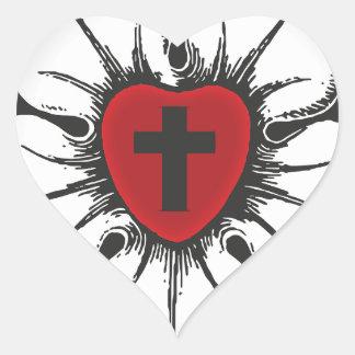 Sticker Cœur rose de luther