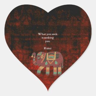 Sticker Cœur Rumi inspiré ce qui vous cherchez la citation