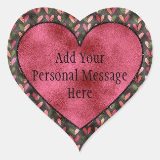 Sticker Cœur Saint-Valentin - motifs de coeur d'amusement