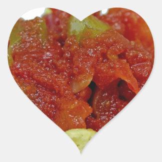 Sticker Cœur Salsa fait maison