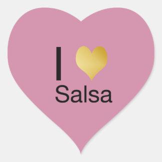 Sticker Cœur Salsa par espièglerie élégant de coeur d'I