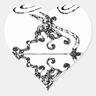 Sticker Cœur soyez courageux