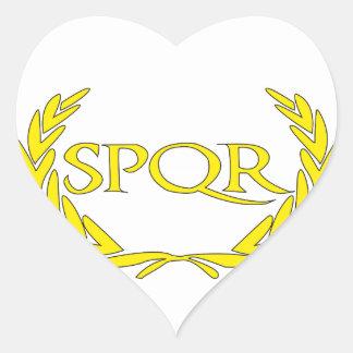 Sticker Cœur SPQR Roma