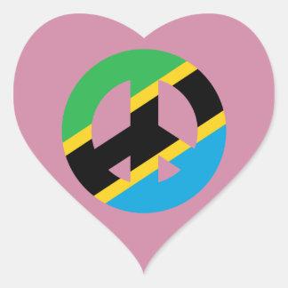 Sticker Cœur Symbole de paix tanzanien