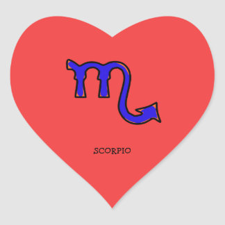 Sticker Cœur Symbole t de Scorpion