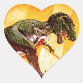 Sticker Cœur T-Rex contre le réservoir de Sherman