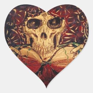 Sticker Cœur temps et mort