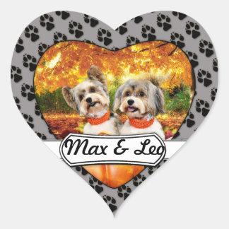 Sticker Cœur Thanksgiving de chute - maximum et Lion - Yorkies