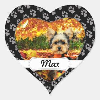 Sticker Cœur Thanksgiving de chute - maximum - Yorkie